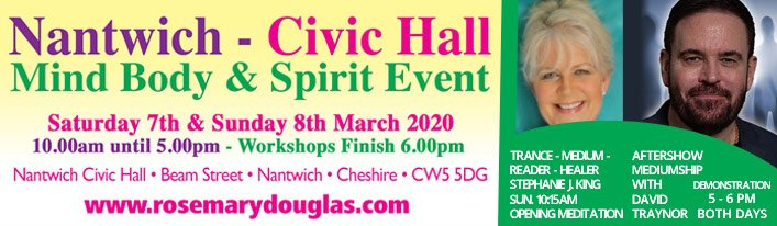 Rosemary Douglas MBS Events, Nantwich